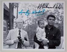 Photograph Signed by Andy Warhol  Boxer Muhammad Ali
