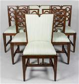 Set of Six (6) Ribbon Back Dining Chairs.