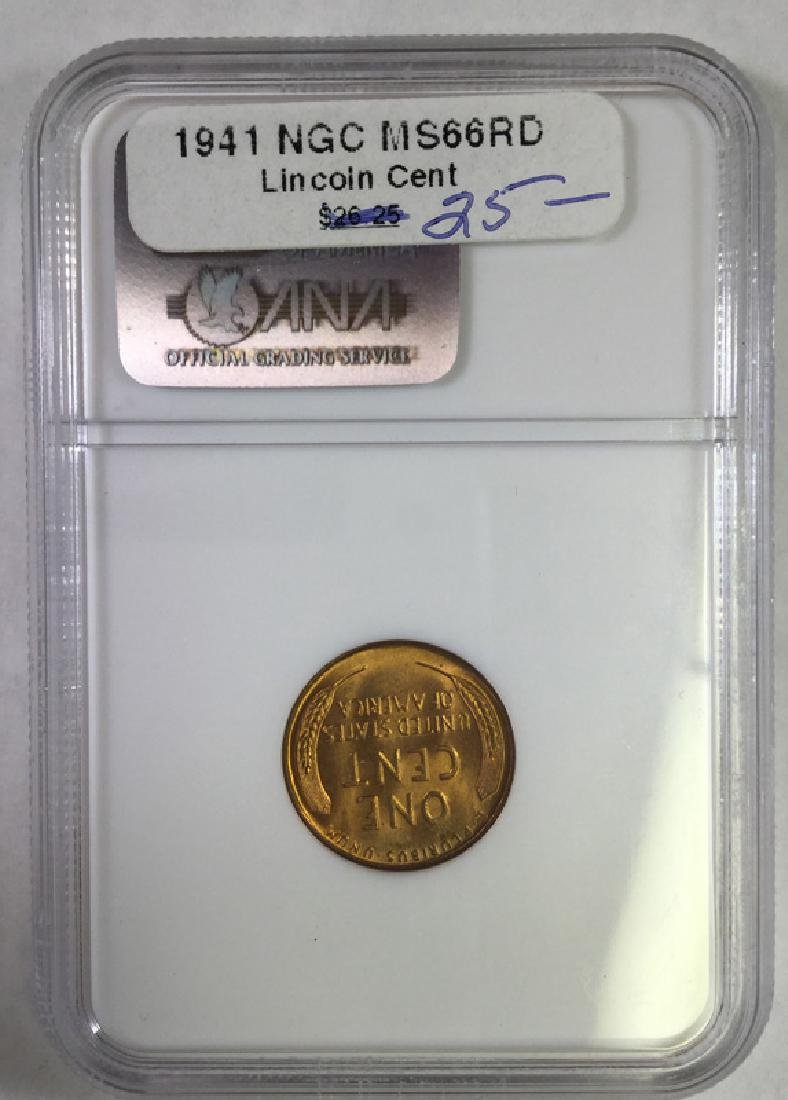 1941 1 CENT LINCOLN PENNY MS66 RD - 2