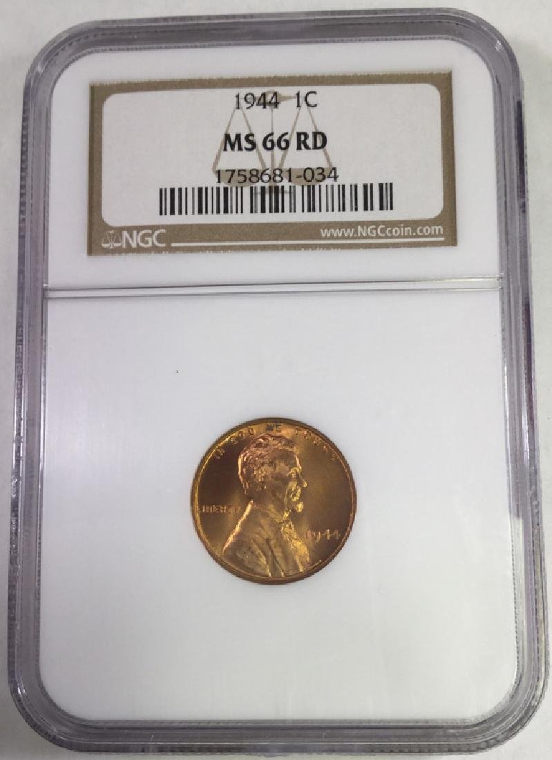 1944 1 CENT LINCOLN PENNY MS66 RD