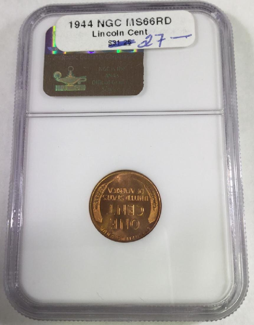 1944 1 CENT LINCOLN PENNY MS66 RD - 2