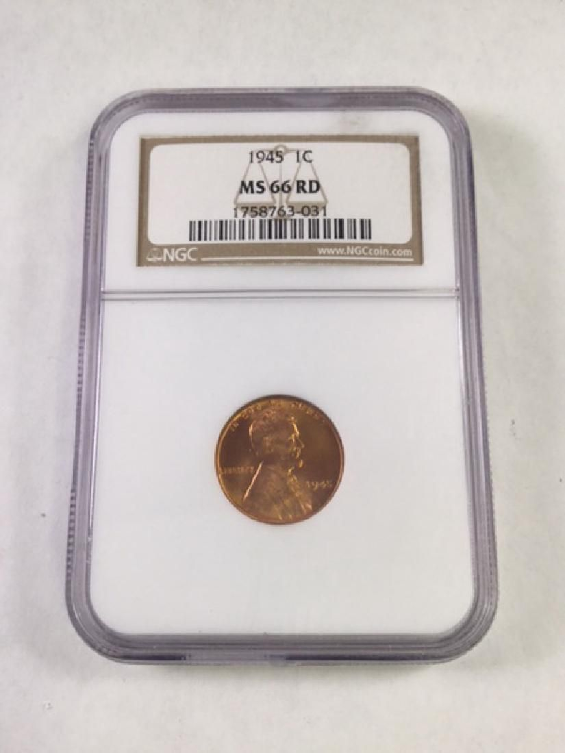 1945 1 CENT LINCOLN PENNY MS66 RD