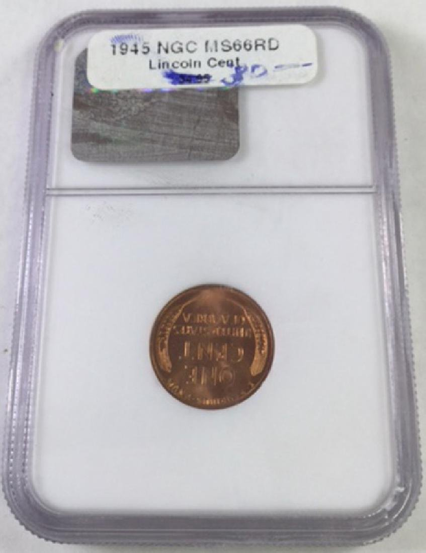 1945 1 CENT LINCOLN PENNY MS66 RD - 2
