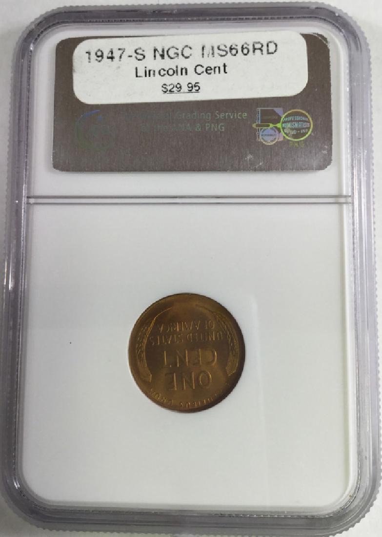 1947 S 1 CENT LINCOLN PENNY MS66 RD - 2