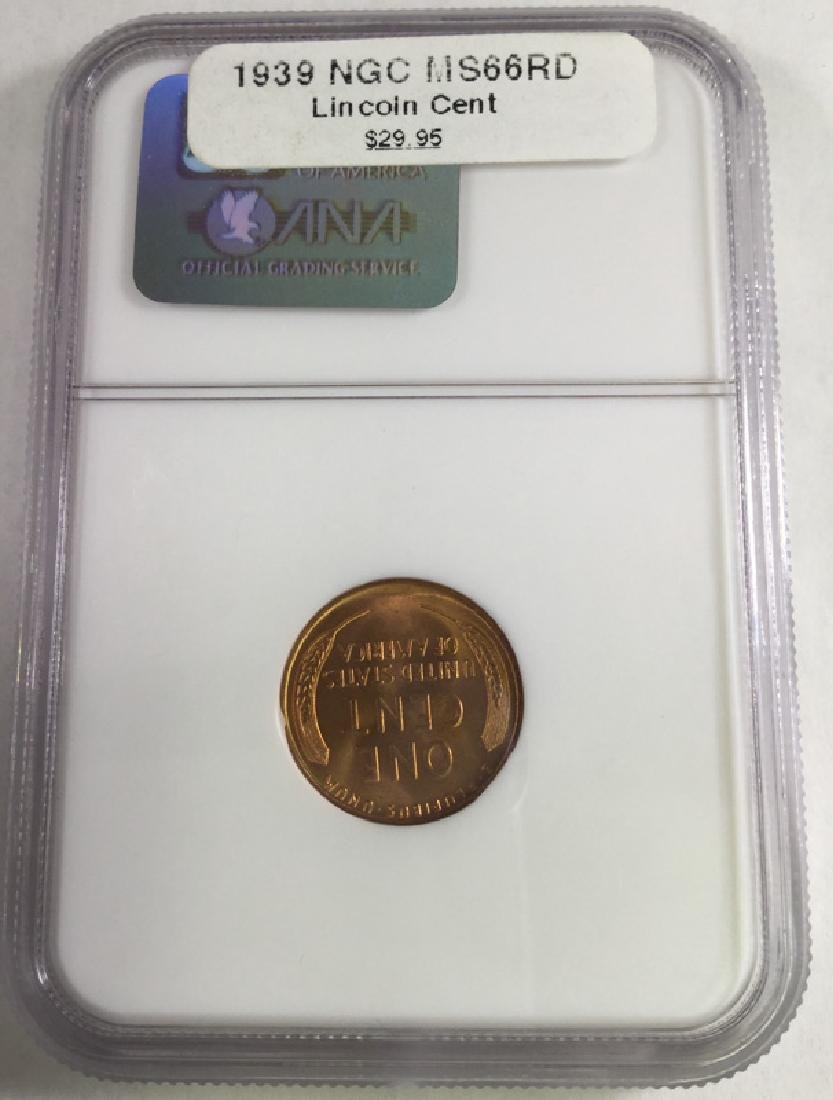 1936 1 CENT LINCOLN PENNY MS66 RD - 2