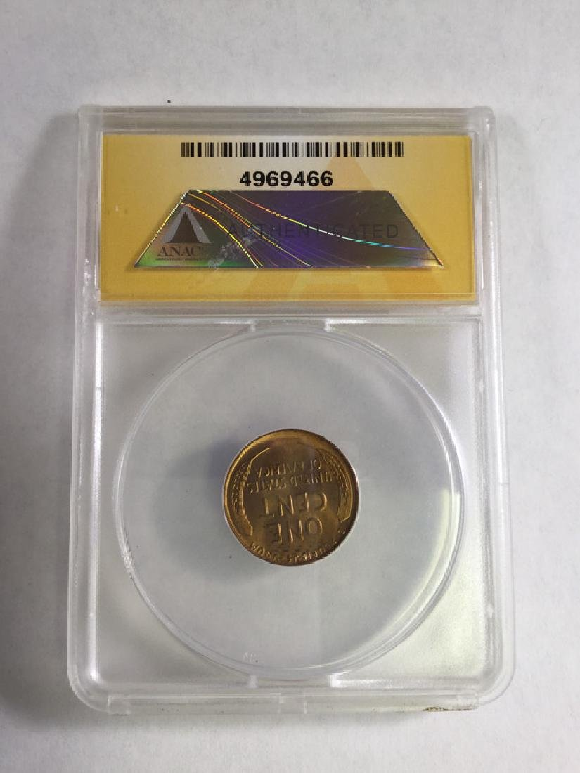 1939 1 CENT LINCOLN PENNY MS66 RD - 2