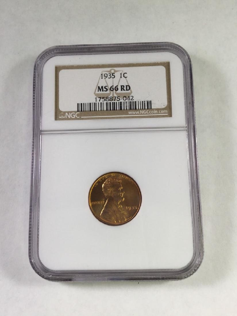 1935 1 CENT LINCOLN PENNY MS66 RD