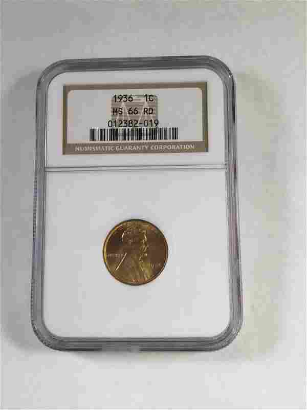 1936 1 CENT LINCOLN PENNY MS66 RD