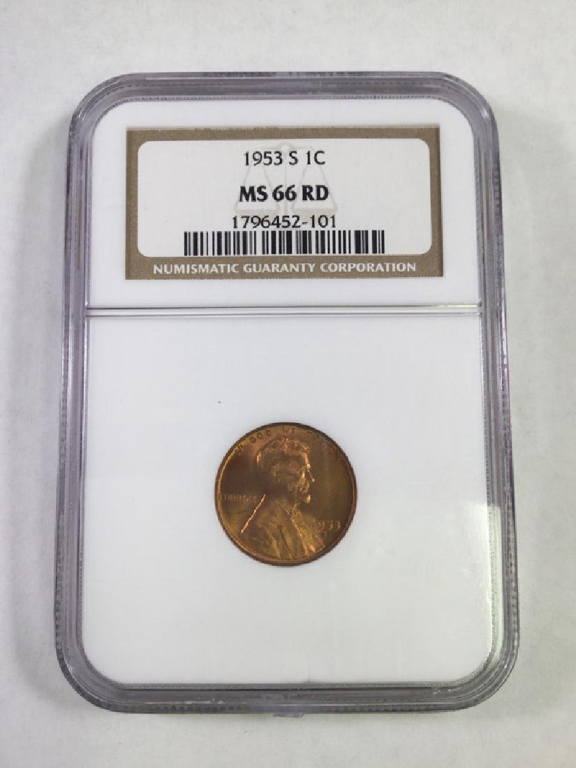 1953S 1 CENT LINCOLN PENNY MS66 RD