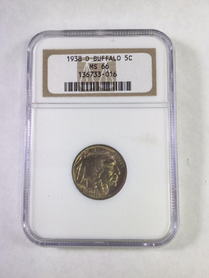1938D 5 CENT BUFFALO NICKEL MS66