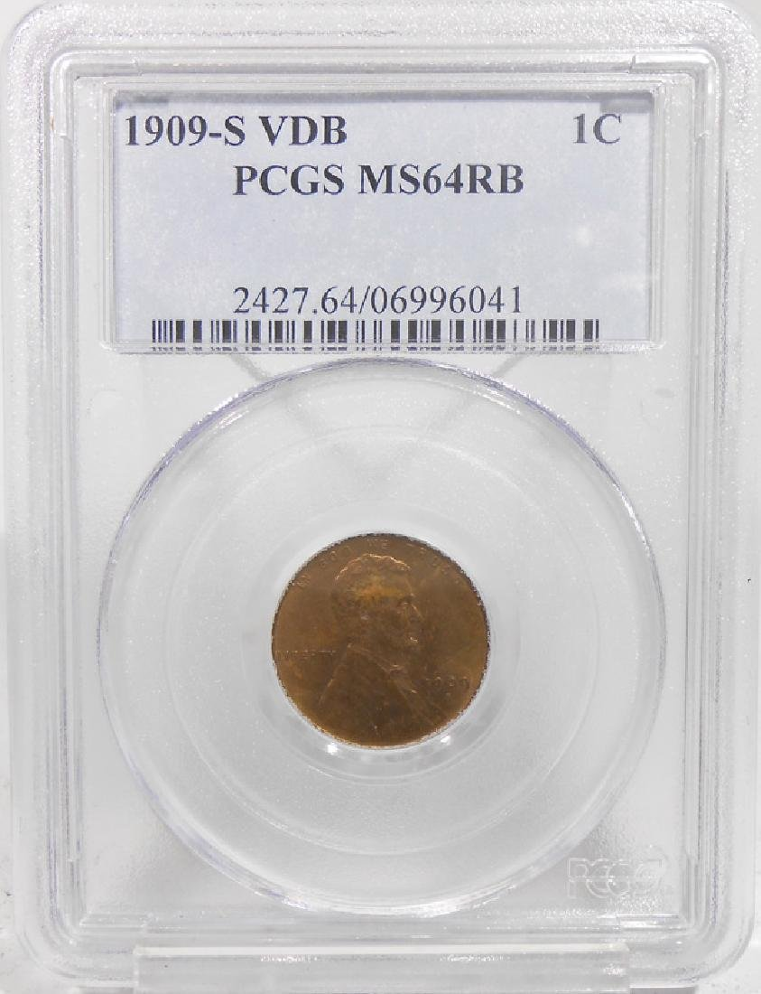 1909 S VDB 1 CENT - MS64 RB