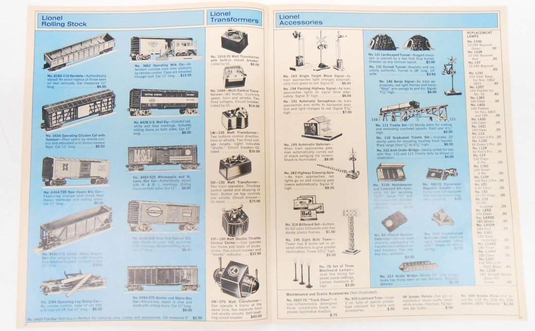 (5) LIONEL TRAIN & TOY CATALOGS - 3