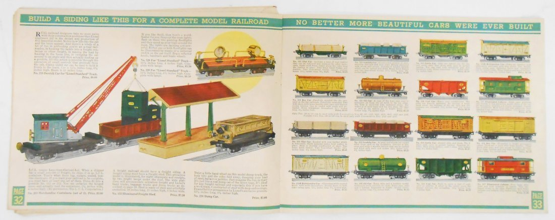 (5) LIONEL TRAIN & TOY CATALOGS - 5