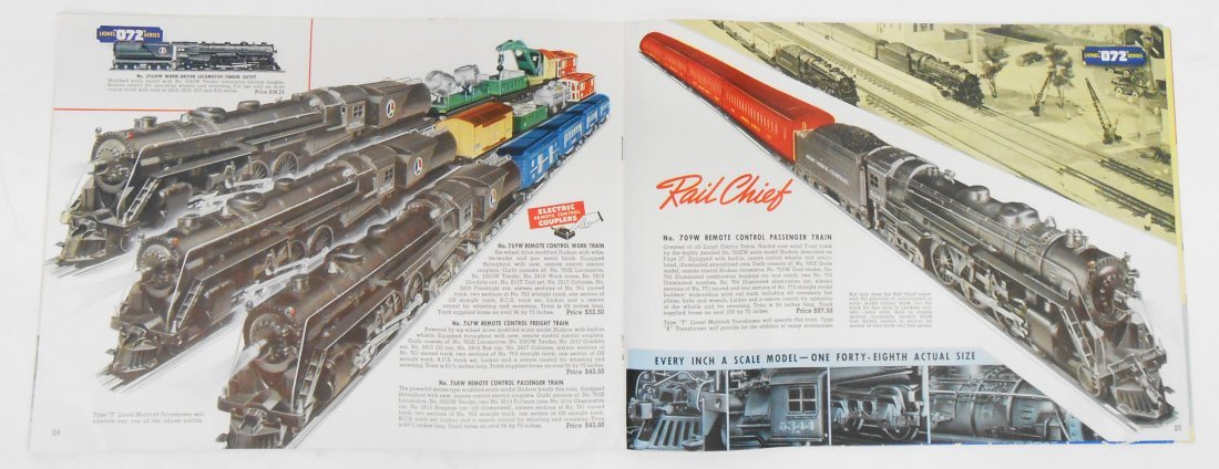 (5) LIONEL TRAIN & TOY CATALOGS - 6