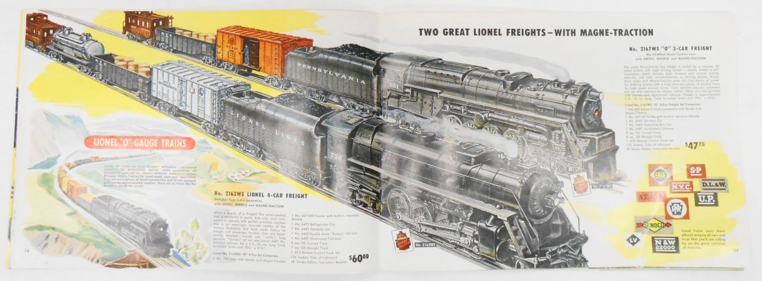 (5) LIONEL TRAIN & TOY CATALOGS - 7
