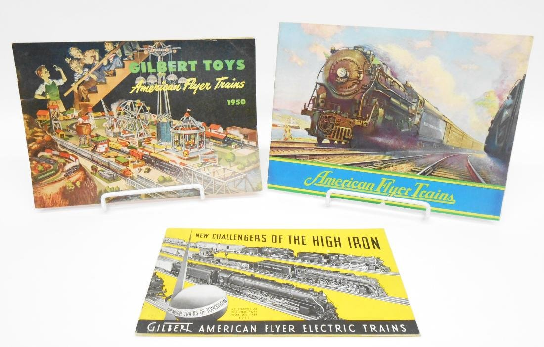 (5) GILBERT TOYS / AMERICAN FLYER TRAIN CATALOGS