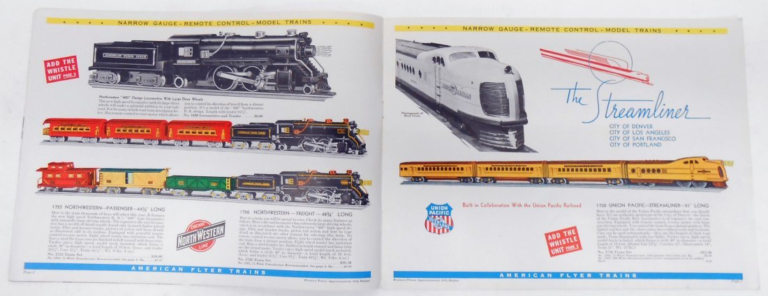 (5) GILBERT TOYS / AMERICAN FLYER TRAIN CATALOGS - 3