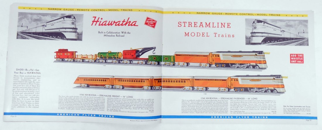 (5) GILBERT TOYS / AMERICAN FLYER TRAIN CATALOGS - 4