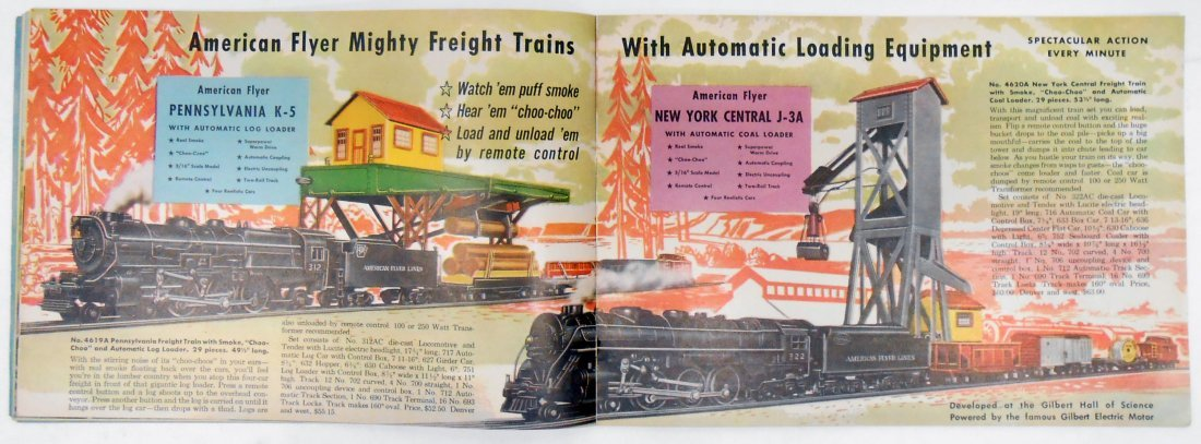 (5) GILBERT TOYS / AMERICAN FLYER TRAIN CATALOGS - 7