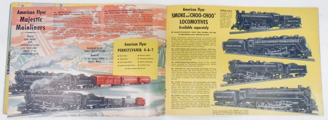 (5) GILBERT TOYS / AMERICAN FLYER TRAIN CATALOGS - 8