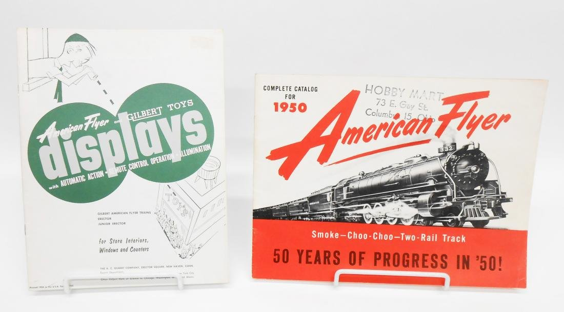 (6) GILBERT TOYS / AMERICAN FLYER TRAIN CATALOGS &