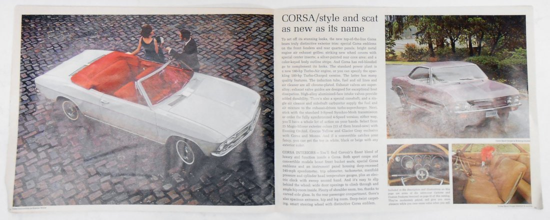 1965 CHEVROLET CORVAIR SALES BROCHURE - 5