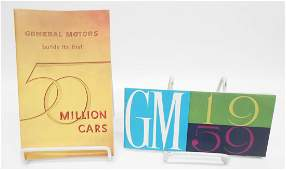 GENERAL MOTORS SALES BROCHURES 2