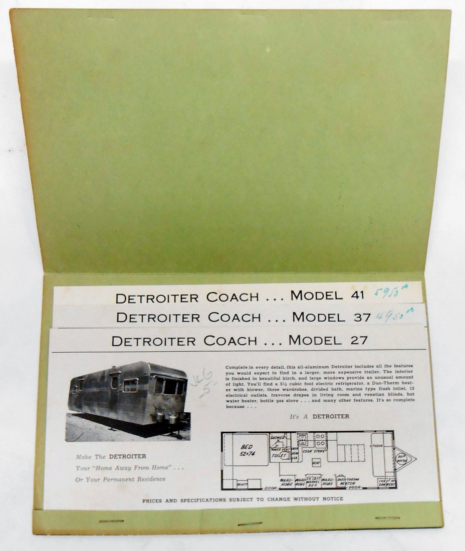 """(3) TRAILER """"COVERED WAGON"""" SALES BROCHURES - 7"""
