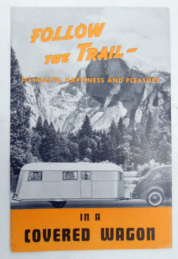 """(3) TRAILER """"COVERED WAGON"""" SALES BROCHURES - 8"""