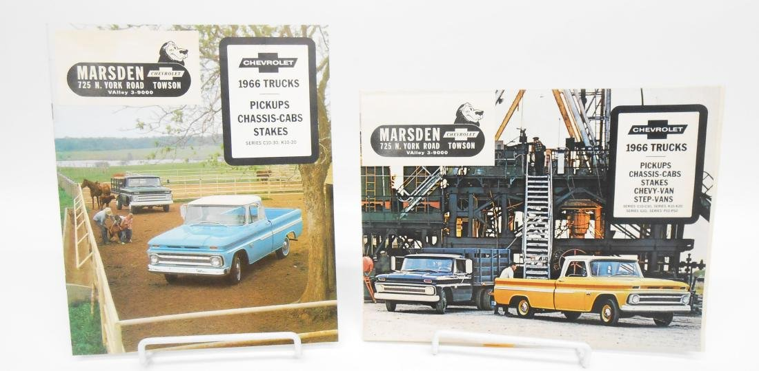 (2) 1966 CHEVROLET TRUCK SALES BROCHURES