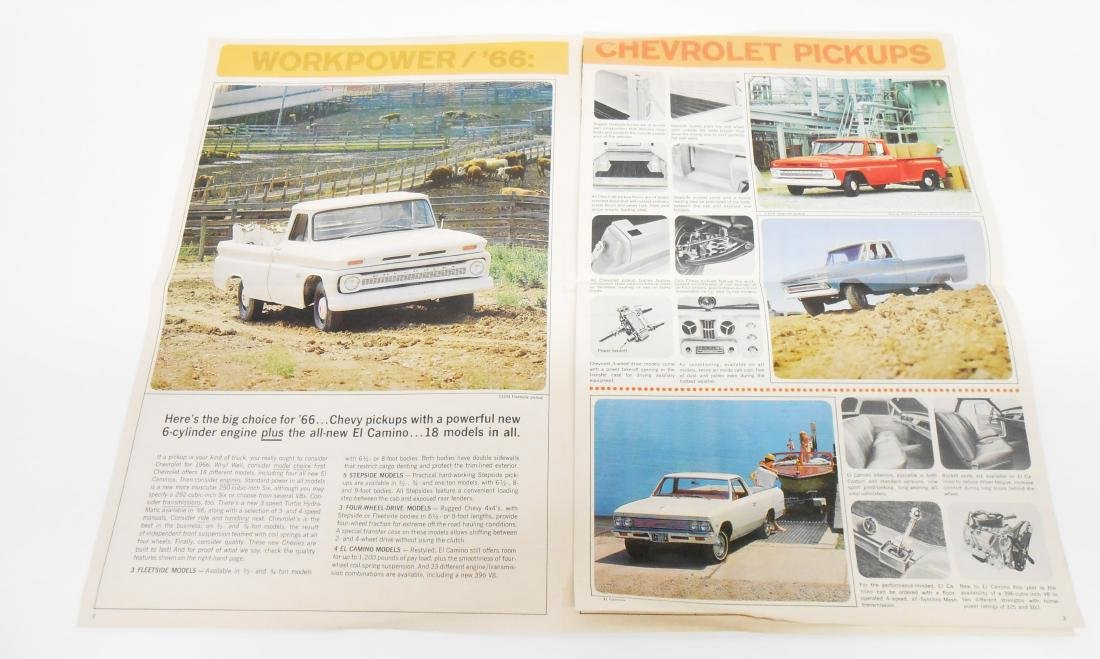 (2) 1966 CHEVROLET TRUCK SALES BROCHURES - 2
