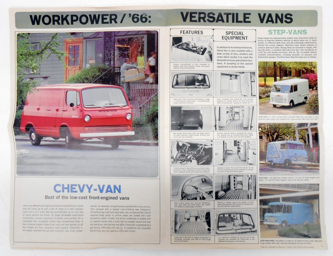 (2) 1966 CHEVROLET TRUCK SALES BROCHURES - 4