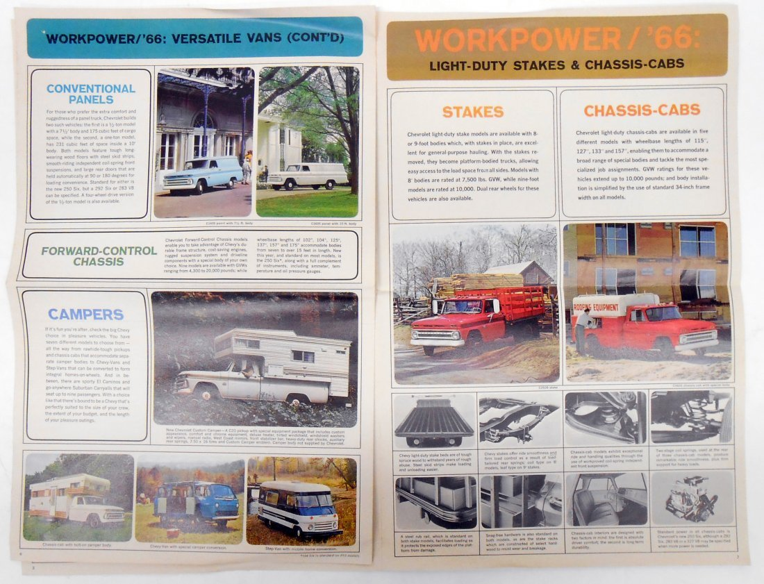 (2) 1966 CHEVROLET TRUCK SALES BROCHURES - 5