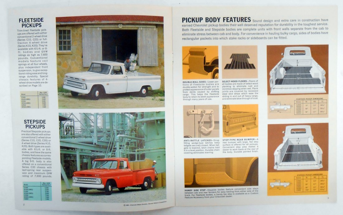 (2) 1966 CHEVROLET TRUCK SALES BROCHURES - 6