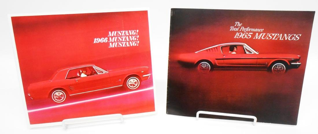 1965 and 1966 MUSTANG SALES BROCHURES