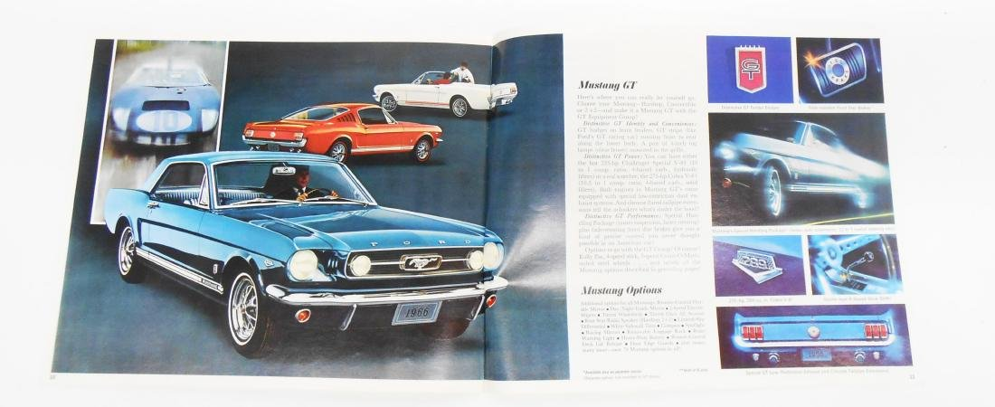 1965 and 1966 MUSTANG SALES BROCHURES - 2