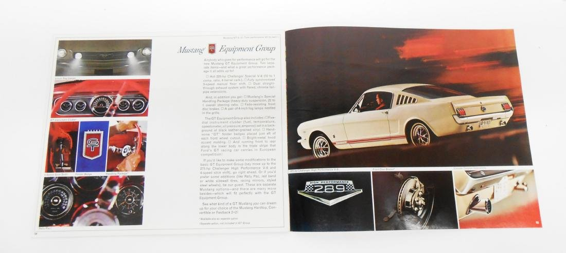 1965 and 1966 MUSTANG SALES BROCHURES - 3