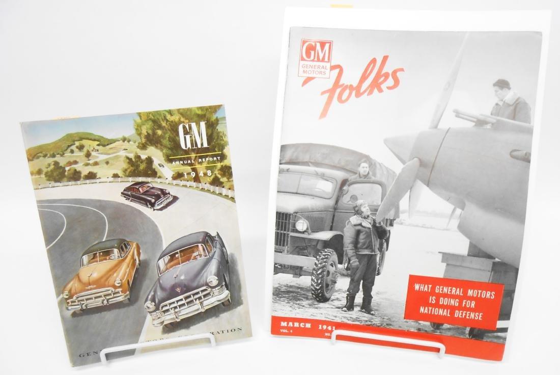 (3) GENERAL MOTORS 1940'S BROCHURES