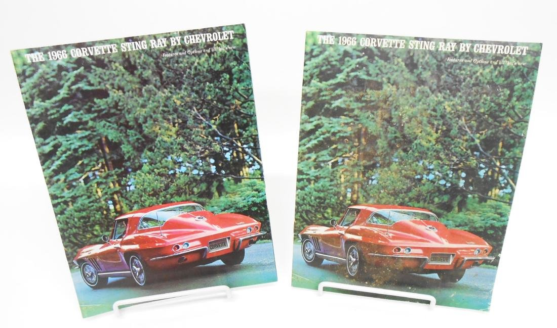 (2) 1966 CORVETTE STING RAY SALES BROCHURES