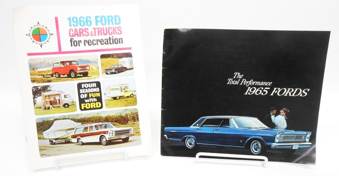 (2) 1960'S FORD SALES BROCHURES