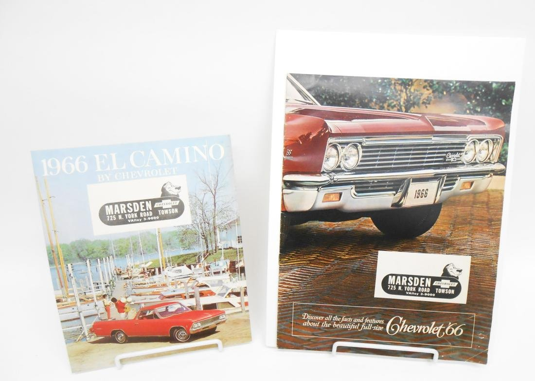 (3) 1966 CHEVROLET SALES BROCHURES