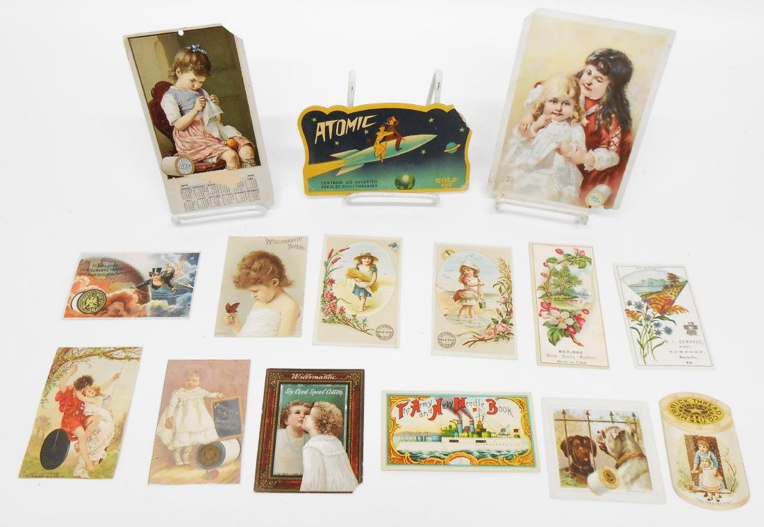LITHO ADVERTISING, TRADE CARDS, ETC. SEWING RELATED