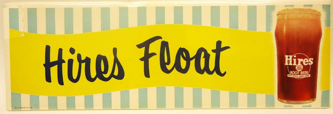 "PAPER LITHO ""HIRES FLOAT"" SIGN"