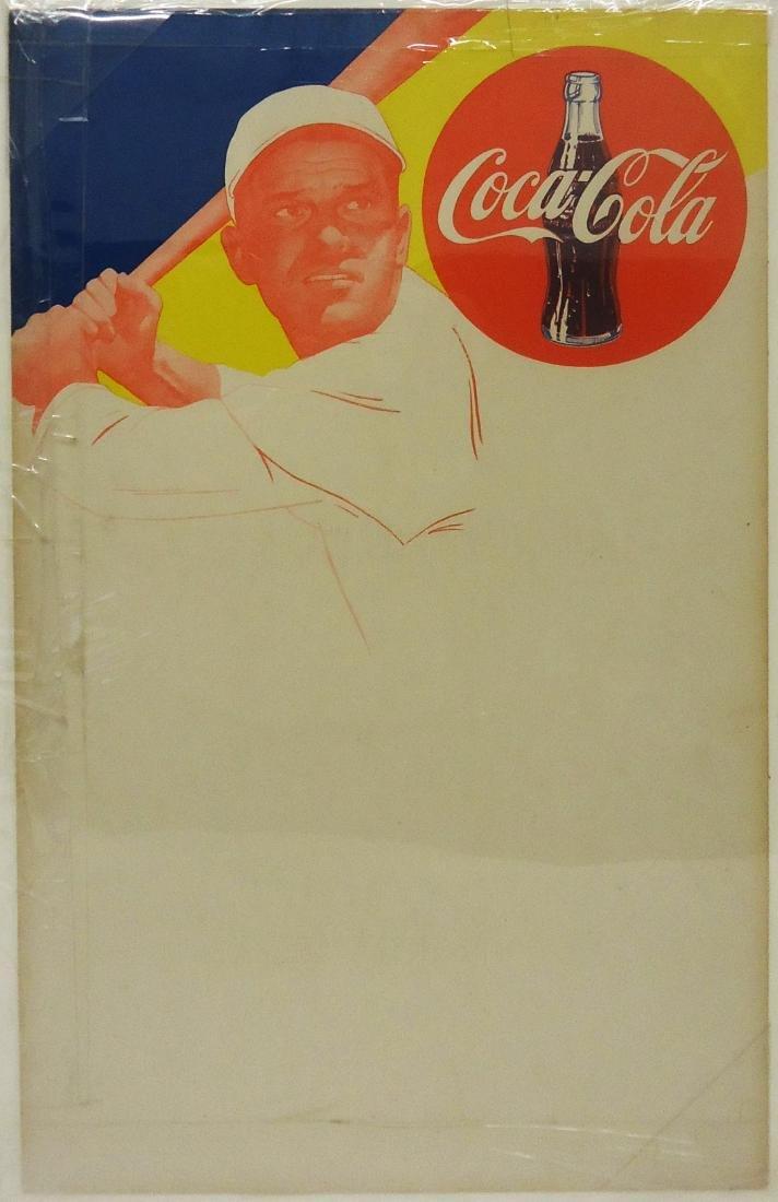 PAPER LITHO COCA-COLA BASEBALL MENU SIGNS (2) - 2