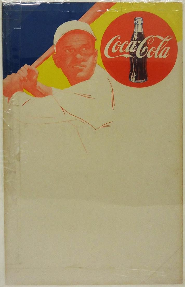 PAPER LITHO COCA-COLA BASEBALL MENU SIGNS (2) - 2