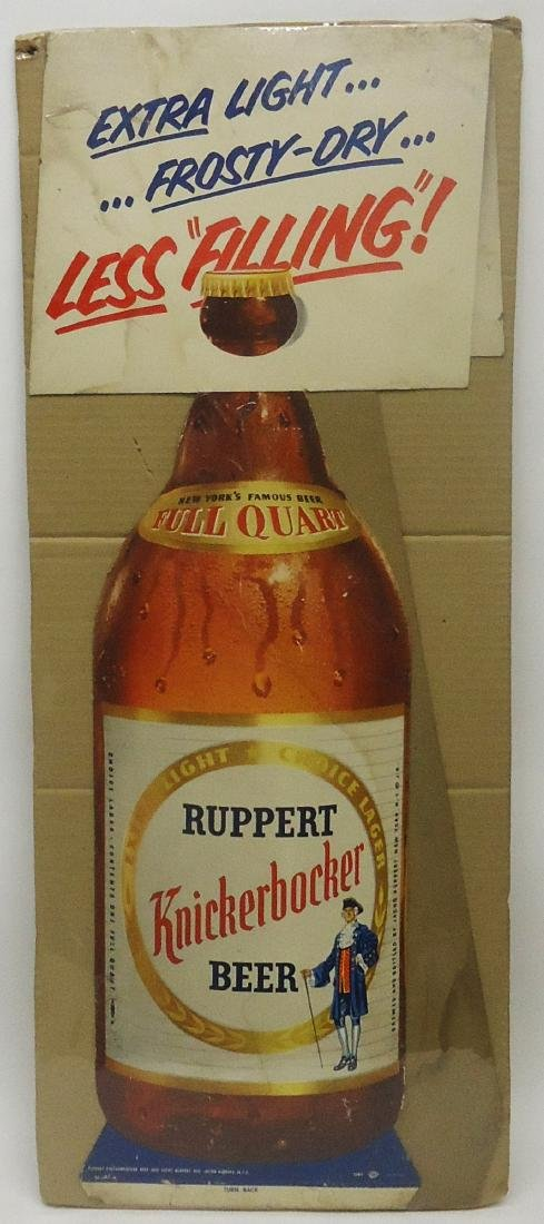 RUPPERT KNIKERBOCKER BEER ADVERTISING DISPLAY