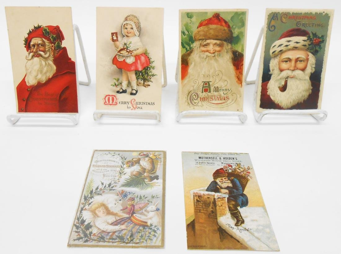 CHRISTMAS RELATED POSTCARDS/TRADE CARDS (6)