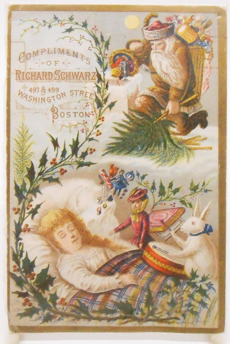 CHRISTMAS RELATED POSTCARDS/TRADE CARDS (6) - 2