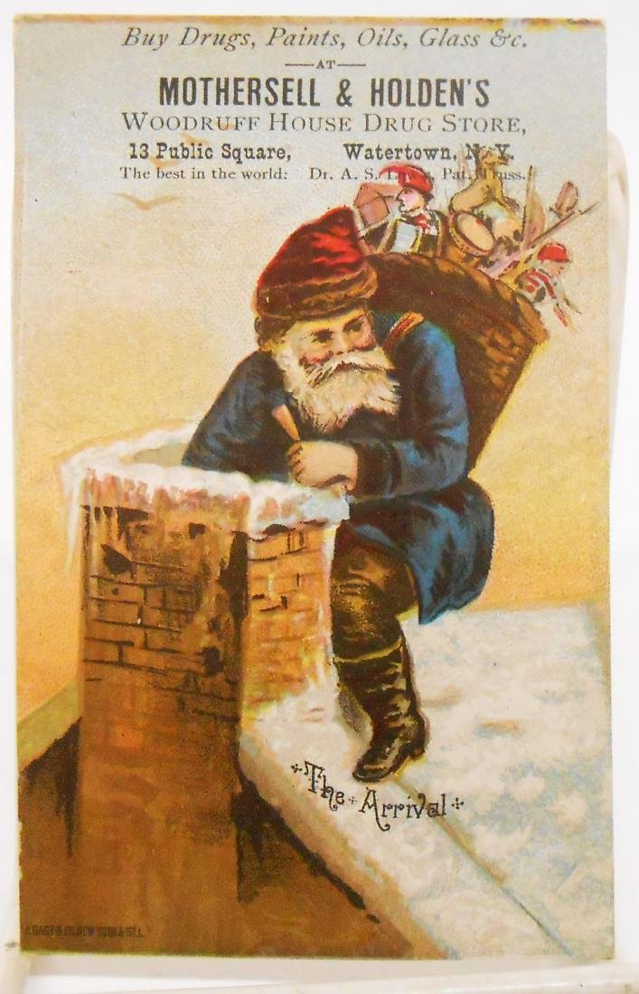 CHRISTMAS RELATED POSTCARDS/TRADE CARDS (6) - 3