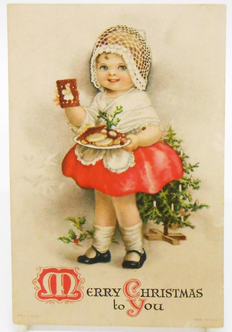 CHRISTMAS RELATED POSTCARDS/TRADE CARDS (6) - 6